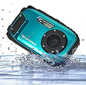 Underwater Digital Camera PYRUS 16 MP Digital Camera 2.7 Inch LCD Display Cameras Underwater 10m Waterproof Camera with 8x Zoom