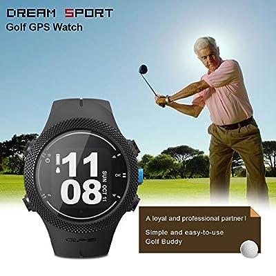 DREAM SPORT GPS Golf Watch Course Rangefinder Measure Shot and Recording Score DREAM SPORT DGF301 (Black) from DREAM SPORT