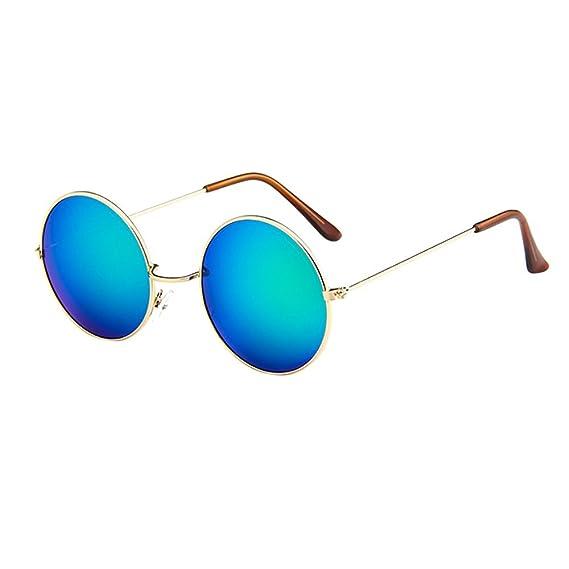 Worsworthy Mujeres Hombres Gafas Retro Vintage Unisex Conducir Gafas de Sol con Montura Redonda Gafas gafas de sol polarizadas gafas de sol redondas ...