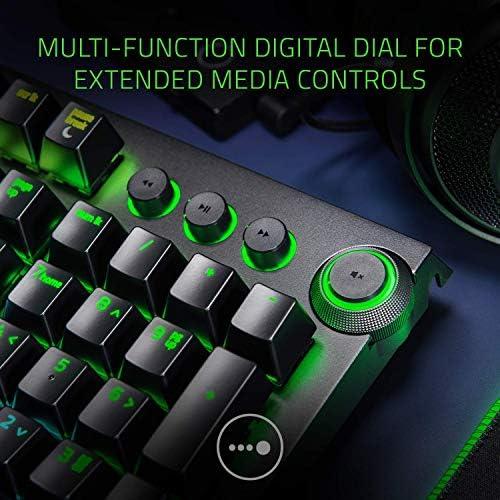 Razer BlackWidow Elite Mechanical Gaming Keyboard: Green Mechanical Switches – Tactile & Clicky – Chroma RGB Lighting – Magnetic Wrist Rest – Dedicated Media Keys & Dial – USB Passthrough 51S3UkcfIrL