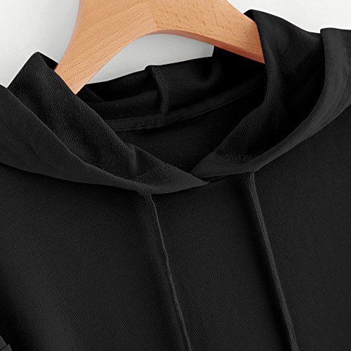ur C Couleur Capuche Mode Impression Rovinci Shirt Longue L'automne T Capuche Tops Hiver Sauteur Pull Sweat Unie Dcontracte Manche Printemps Chemisier Noir Sweat Femmes shirt YWW41v7z