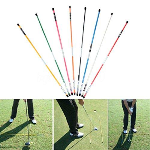 (KaleidoScope) Golf Alignment Sticks Swing Tour Training Aid Practice Rods Trainer Aids (Tour Swing)