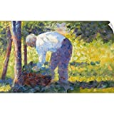 Wall Peel entitled The Gardener. Although Seurat is best known for his scenes of urban life many of his paintings of 1881-84 depict rural laborers and landscapes. He initially favored an earth-toned palette reminiscent of the work of earlier painters...