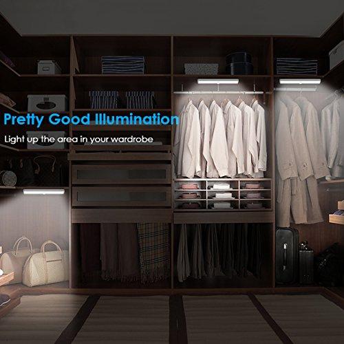 Lighting For Closets: URPOWER Motion Sensor Light, 10 LED Bulbs Battery Operated