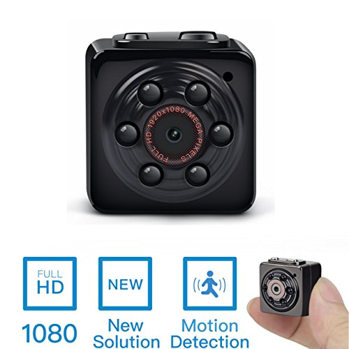 Mini Spy Video Cameras (Mini Spy Hidden Camera -ENKLOV 1080P Portable Spy Voice Video Recorder Camera with Night Vision,Motion Detection,Indoor/Outdoor)