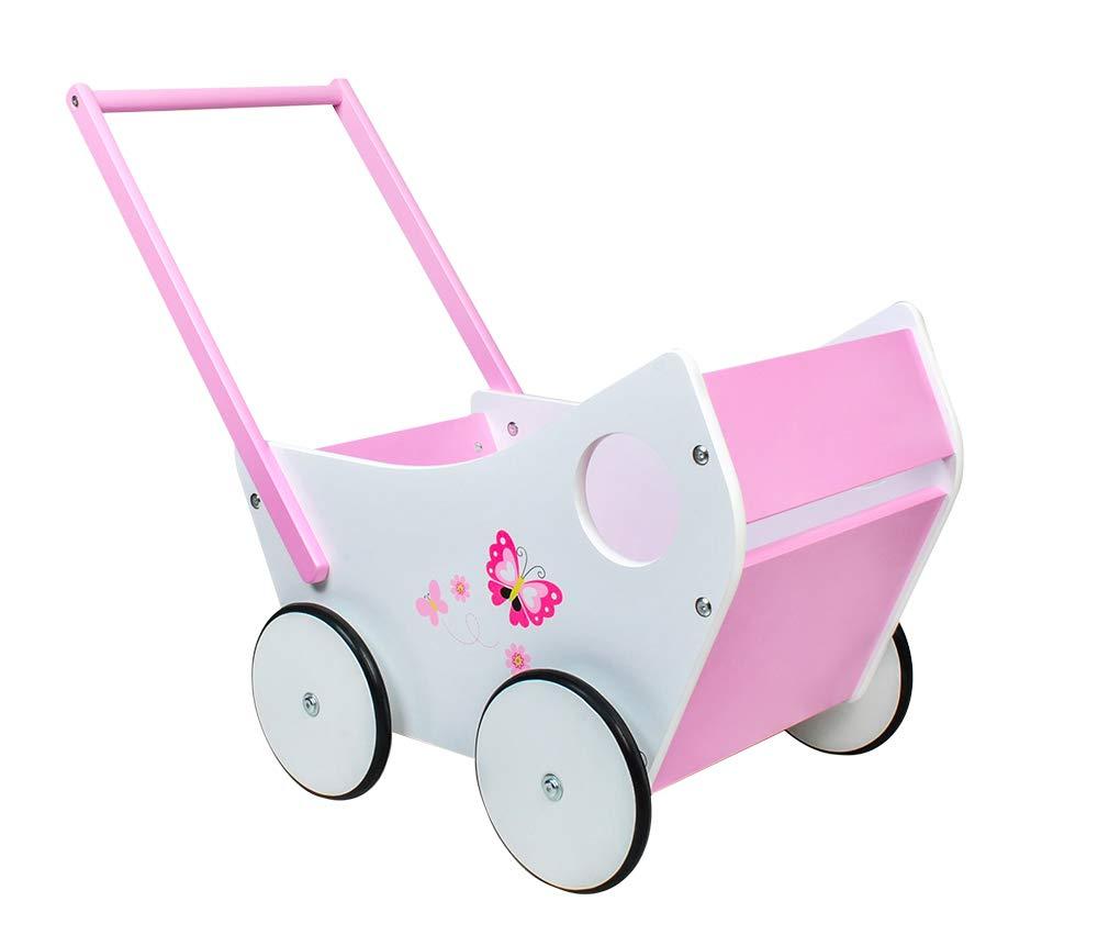 MALATEC Andador de muñeca-bebé de Madera, empujador para niña ...