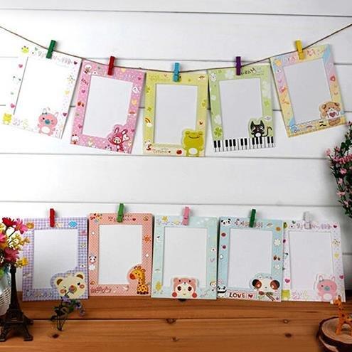 Global Brands Online 9Pcs 6 Inch DIY Wall Hanging Marco De Foto Niã±Os De Los Niã±Os Creativos Cartoon Paper Pictures...