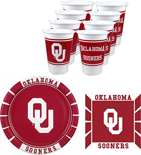 - Westrick Oklahoma Sooners Party Pack - 48 Pieces (Serves 16)