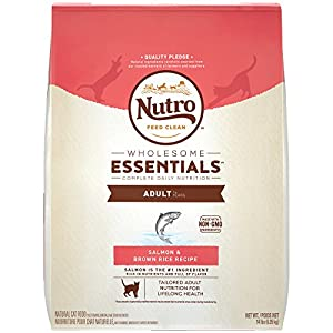 NUTRO WHOLESOME ESSENTIALS Natural Dry Cat Food, Adult Cat Salmon & Brown Rice Recipe, 14 lb. Bag 32