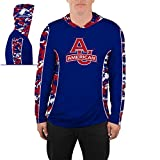 American University Eagles Hooded Long Sleeve Shirt Vented Digicamo Design (Large)