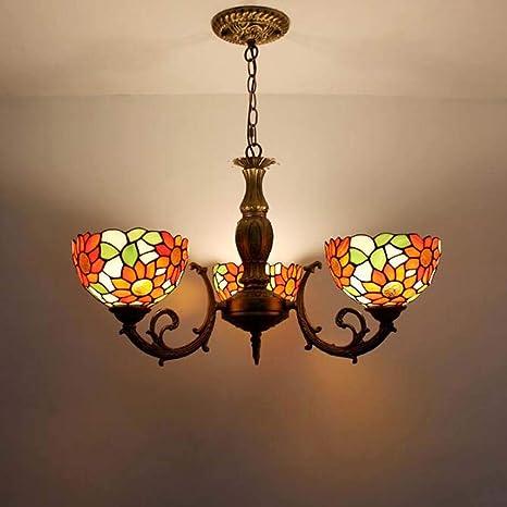 3 Candelabros de luz Lámpara colgante estilo Tiffany ...