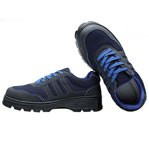 Eclimb Voor Werk Heren Relaxte Pasvorm Antislip Werkschoen Blauw