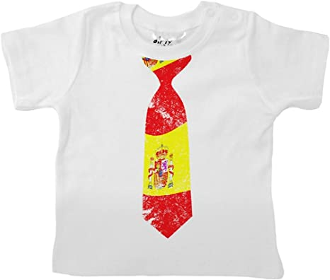 Dirty Fingers, Corbata con diseño de bandera Española, Bebés ...