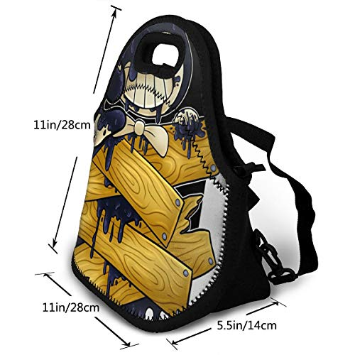 9510be9d9074 Sunmoonet Insulated Lunch Bag, Ro-blox Bendy Reusable Lunch Box Food  Container Organizer Handbags Tote with Zipper for Men Women Kids