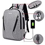 Laptop Backpack, Travel Computer Bag, Anti Theft Water Resistant College School Bookbag,Business Backpack with USB Charging for Women & Men Fits 17 Inch Laptop and Notebook