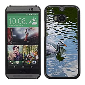Hot Style Cell Phone PC Hard Case Cover // M00000504 Birds Ducks Animals Pattern // HTC ONE M8