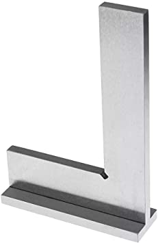 150mm x 100mm Precision Straight Edge Base Machinist Engineer Try Square Grade 0