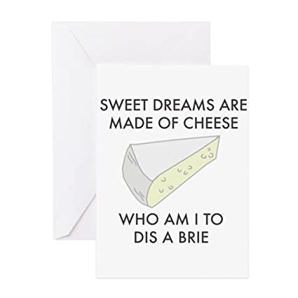 Amazon Cafepress Sweet Dreams Are Made Of Cheese Greeting