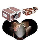 AerWo Cinema Cardboard Cellphone Projector Beamer Projector for iPhone 6 plus 6s 5s Sumsang S6 S5 HTC LG SONY, Smartphone Mobile Phone