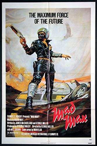 MAD MAX MEL GIBSON GEORGE MILLER 1980 ORIGINAL 27X41 ONE SHEET MOVIE POSTER NEAR MINT