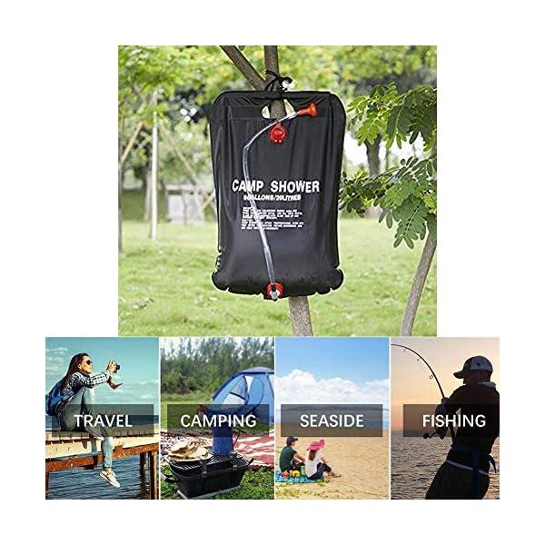 51S3WkwuFIL Sunshine smile Campingdusche Solardusche Tasche,20L Camping Dusche Set,Solardusche Camping,Tragbare Solar Wassersack,für…