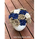 Red-White-Blue-Burlap-Flowers-with-Stem-4th-of-July-America-4-red-4-white-4-navy-12-total-Burlap-Rose-Flowers-with-Stem-Wedding-Decor-Flowers-Rustic-Bouquet-with-Wooden-Stems