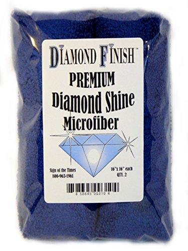DIAMOND FINISH Premium Diamond Shine Microfiber Cloth 2-Pack 16 x 16 inches Each Washable