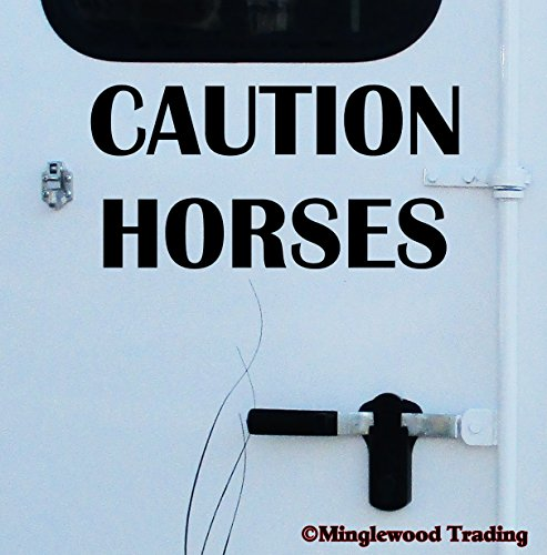 jumping horse trailer decal - 6