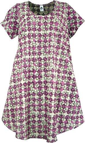 Maxitunika Blau Kleider XXL Midi Shop Size Sommerkleid Bekleidung Plus Himbeer Guru amp; Baumwolle Damen Ethno Size 46 Lange Alternative xIA8wq