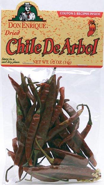 Melissa's Dried De Arbol Chiles, 3 Bags (2 oz)
