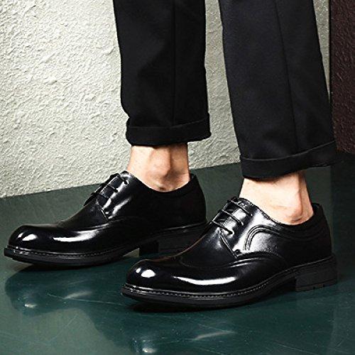 Pdfgo Mannen Lente Echt Leer Brogues Bedrijf Derby Bruin Uniform Schoenen Formeel Wees Schoen Oxford Toevallig Huwelijk Lace Zwart