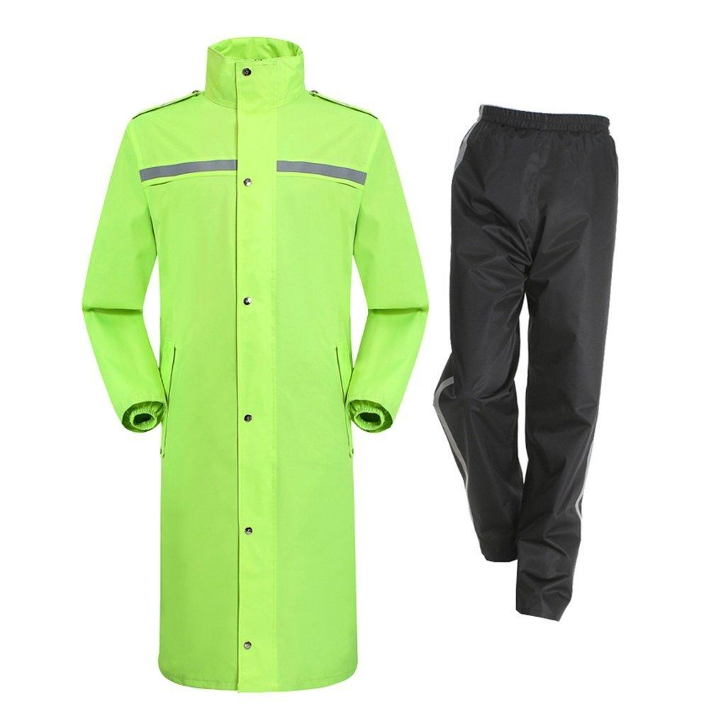 XL BJYG VêteHommests de Pluie pour Hommes et Femmes VêteHommests de Pluie réutilisables (Ensemble Veste de Pluie et Pantalon de Pluie) Travail extérieur avec Capuche pour Adultes (Taille  XL)