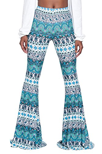 Tall Womens Autumn Street Style Classy Paisley Patterns Bells Pants XL ()