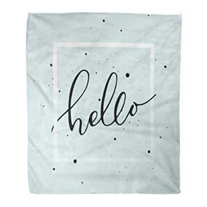 Amazon.com: Golee Throw Blanket Goodbye Brush Pen Hello ...