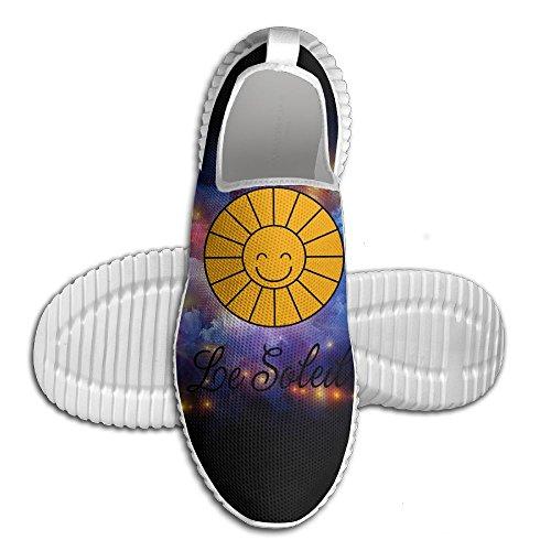 Geek Sneaker für Männer Französisch Frühling Sommer Schule Lektion Sunny Sun Weiß