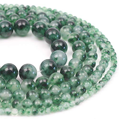 Oameusa 10mm Natural 7A Water Grass Agate Beads Gemstone Beads Loose Beads Agate Beads for Jewelry Making 15