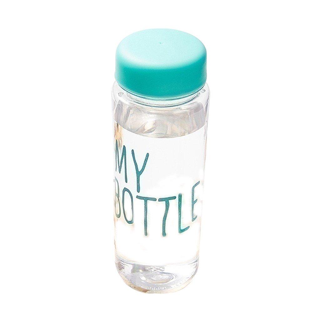 Potato001 Clear My Bottle Sport Fruit Juice Water Cup Portable 500ML Travel Bottle (Blue)