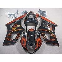 Black & Orange Fairing Bodywork Injection for 2003-2004 Suzuki GSXR GSX-R 1000
