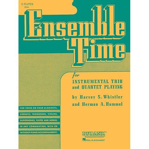 Ensemble Time - C Flutes (Oboe) (for Instrumental Trio or Quartet Playing) Ensemble Collection Series- Pack of 3
