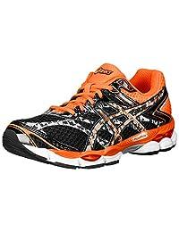 ASICS Men's Gel-Cumulus 16 Lite-Show Running Shoe,Onyx/Black/Flash Orange,8 M US