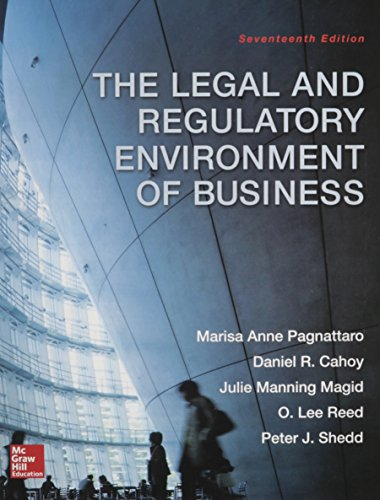 Pdf Law The Legal and Regulatory Environment of Business