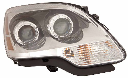 Depo 335-1148R-ASN GMC Acadia Passenger Side Composite Headlamp Assembly with Bulb and Socket