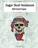 united states bandanna - Sugar Skull Notebook: USA Flag Bandanna