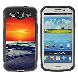 Pulsar Defender Series Tpu silicona Carcasa Funda Case para SAMSUNG Galaxy S3 III / i9300 / i747 , Sunset Beautiful Nature 86