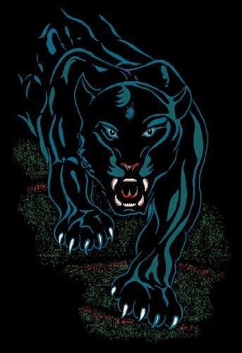 Jaguar Area Rug (Black Panther Jaguar Area Rug 4x6 African Animal Carpet - Actual 3' 7