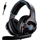 SADES New Version Xbox One Gaming Headset Headphones with Microphone and PC Adapter for PS4/PlayStation 4 Laptop Mac