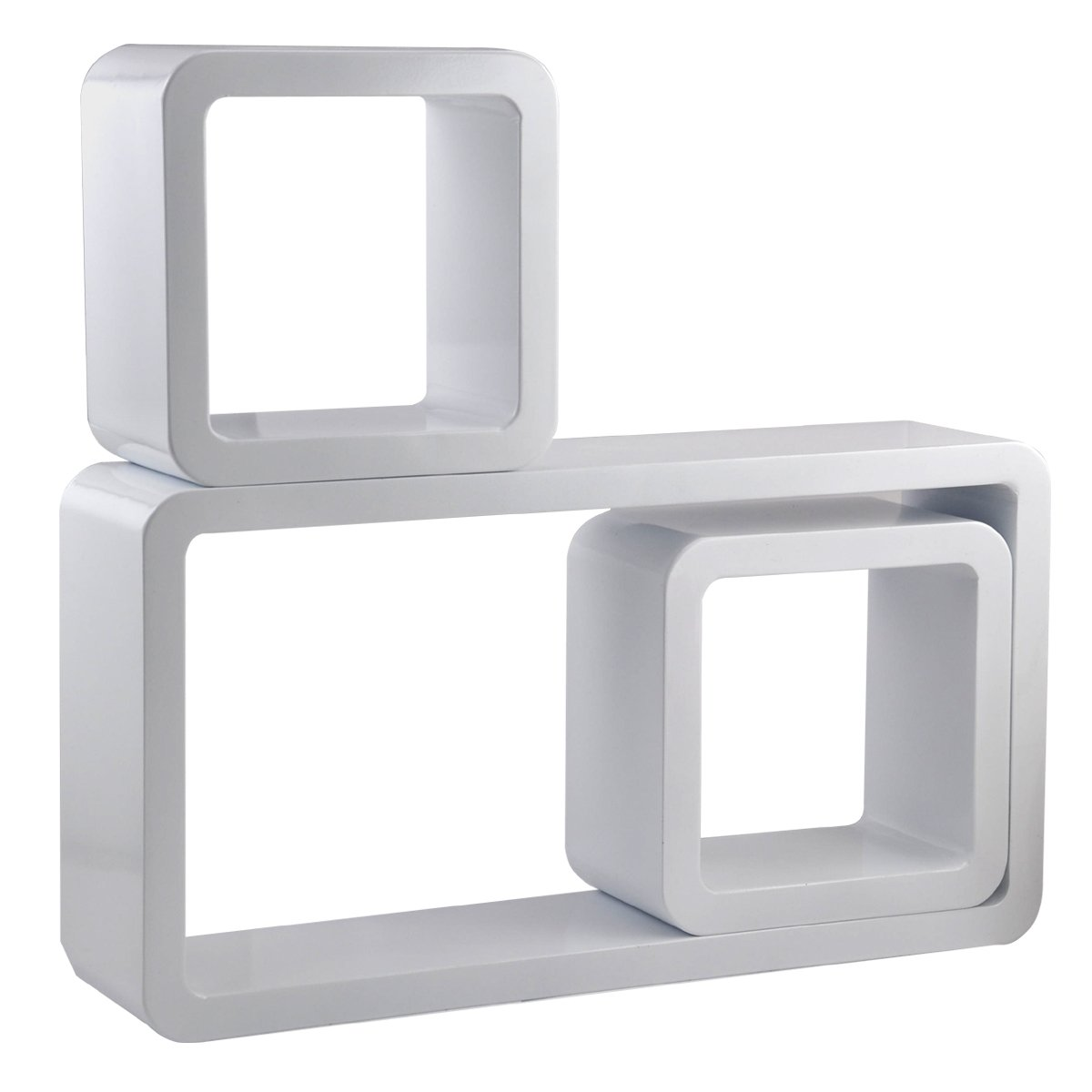 chinkyboo wall rectangle floating wall shelves storage display cubes shelf for cd dvd book white amazoncouk kitchen u0026 home