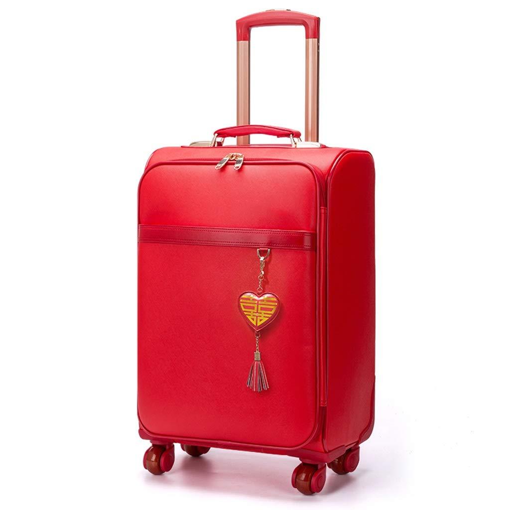 ZHAOSHUHLI スーツケース旅行トロリーケーストロリーボックス大きな赤いスーツケーススーツケース結婚式の持参金ボックス (サイズ さいず : 16'') 16''  B07QYF7RRZ