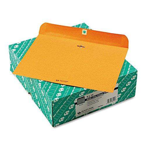 Quality Park 38090 Redi-File Clasp Envelope, Contemporary, 12 x 9, Brown Kraft, ()