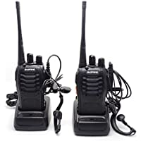 BAOFENG BF-888S UHF FM Transceiver High Illumination Flashlight Walkie Talkie Two-Way Radio+2 Earphone from NSKI (2pcs)